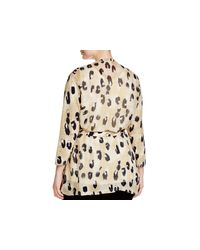 Lafayette 148 New York - Black Plus Printed Wrap Cardigan - Lyst