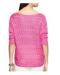 Pink Pony - Pink Lauren Cable Knit Sweater - Lyst