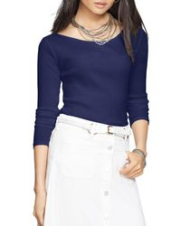 Pink Pony - Blue Lauren Ribbed Top - Lyst