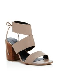 Rebecca Minkoff | Natural Christy Ankle Tie Back High Heel Sandals | Lyst