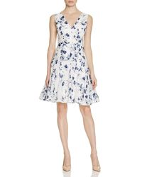 Rebecca Taylor - Red Abstract Floral Print Dress - Lyst