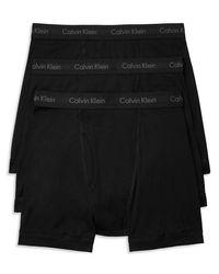 Calvin Klein   Black Cotton Classics Boxer Briefs, Pack Of 3 for Men   Lyst
