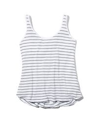 Splendid - White Striped Cross Back Tank - Lyst