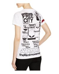 FREE CITY White Artists Wanted Tee