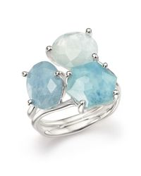 Ippolita | Sterling Silver Rock Candy Wonderland Semi-precious Multi-stone Doublet Cluster Ring In Light Blue | Lyst