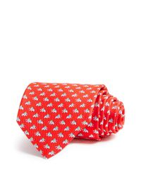 Ferragamo - Red Elephant Crown Classic Tie for Men - Lyst