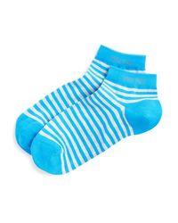 BOSS - Blue Marc Stripe Ankle Socks for Men - Lyst