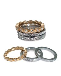 ABS By Allen Schwartz - Metallic Rings, Set Of 3 - Lyst