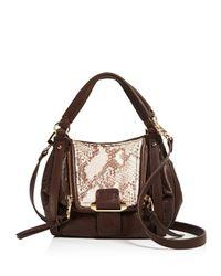 Kooba - Brown Jonnie Mini Snake-embossed Shopper Shoulder Bag - Compare At $298 - Lyst