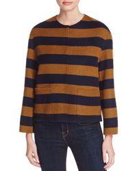 Weekend by Maxmara - Blue Kuens Reversible Striped Jacket for Men - Lyst