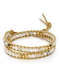 Chan Luu | Metallic Mother-of-pearl Beaded Wrap Bracelet | Lyst