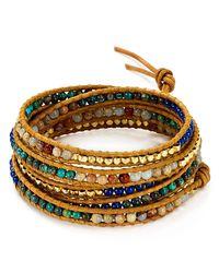 Chan Luu | Metallic Aqua Terra Mix Beaded Wrap Bracelet | Lyst