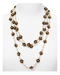 "Marc Jacobs | Metallic Flower Multi Strand Necklace, 21"" | Lyst"