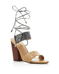Splendid Natural Kenya Lace Up High Heel Sandals