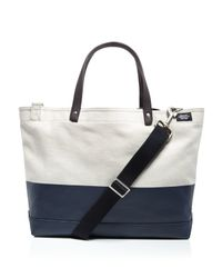Jack Spade | Blue Coal Dipped Canvas Tote Bag | Lyst