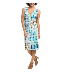 Lyssé - Blue Lupe Abstract Print Dress - Lyst