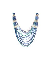 Sparkling Sage | Blue Mixed Seed Bead Necklace - Compare At $117 | Lyst