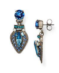 Sorrelli - Blue Swarovski Crystal Drop Earrings - Lyst