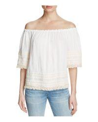 Ella Moss | White Lilita Off-the-shoulder Top | Lyst