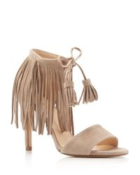 Kenneth Cole - Multicolor Mylah Fringe Lace Up High Heel Sandals - Lyst