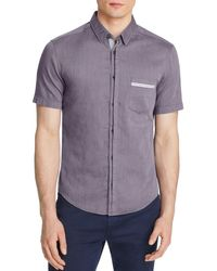 BOSS Green - Purple Micro Check Slim Fit Button-down Shirt for Men - Lyst