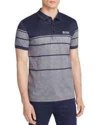 BOSS Green - Blue Regular Fit Polo for Men - Lyst