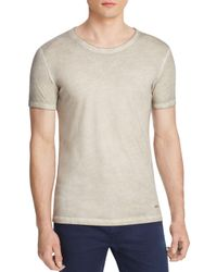 BOSS Orange - Gray Garment Dyed Crewneck Tee for Men - Lyst