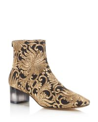 Tory Burch - Metallic Carlotta Embroidered Booties - Lyst