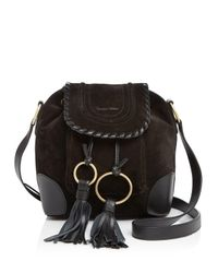 See By Chloé Black Small Polly Suede Bucket Bag