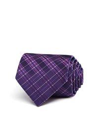 John Varvatos | Purple Plaid Classic Tie for Men | Lyst