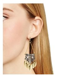 Aqua - Metallic Callandra Statement Drop Earrings - Lyst