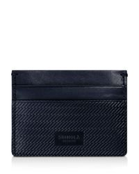 Shinola - Blue Embossed Card Case - Lyst
