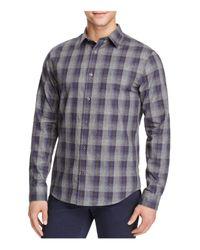 VINCE   Blue Melrose Ombré Plaid Flannel Slim Fit Button-down Shirt for Men   Lyst