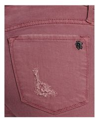 Black Orchid   Pink Noah Ankle Fray Destructed Jeans In Lady Like   Lyst