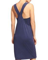 Donna Karan - Blue New York Racerback Tank Dress - Lyst