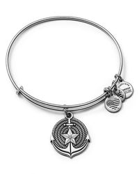 ALEX AND ANI | Metallic Anchor Expandable Wire Bangle | Lyst