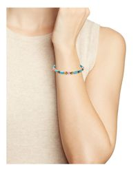 ALEX AND ANI Blue Braided Leather Wrap Bracelet