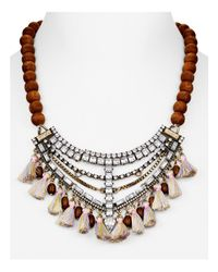 BaubleBar | Brown Java Collar Necklace, 14"