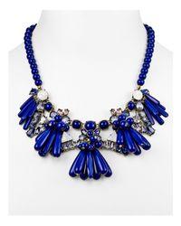 "BaubleBar | Blue Greta Collar Necklace, 16.5"" | Lyst"