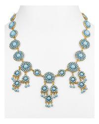 "BaubleBar | Blue Sundrop Bib Necklace, 17"" | Lyst"