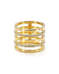 BaubleBar | Metallic Perforated Ring | Lyst
