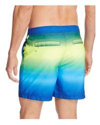 Original Penguin - Blue Neon Fade Swim Trunks for Men - Lyst