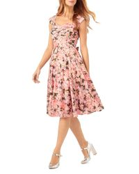 Phase Eight - Pink Rosalia Floral Print Dress - Lyst