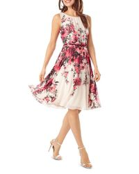 Phase Eight - Pink Myrtle Floral Print Flared Dress - Lyst