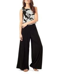 Phase Eight - Black Lara Popover Jersey Jumpsuit - Lyst