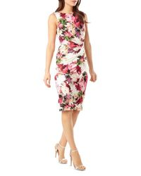 Phase Eight - Multicolor Elisa Floral Print Sheath Dress - Lyst