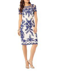 Phase Eight - Blue Sienna Illusion Passementerie Dress - Lyst