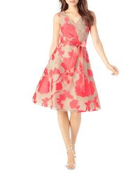 Phase Eight - Pink Calista Embroidered Organza Dress - Lyst