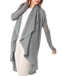 Phase Eight - Gray Margherita Linen Open Cardigan - Lyst