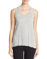 Nation Ltd - Gray Georgie Racerback Tank - Lyst